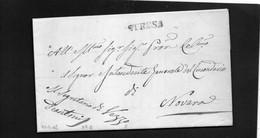 CG19 - Lettera Da Vezzo 27/7/18447 Per Novara - Annullo Lineare Nero Di Stresa - 1. ...-1850 Prefilatelia
