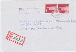 Berlin (West) Industrie Und Technik Mi 856 (2) MeF RBf Berlin 1987 - Cartas