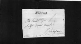 CG19 - Lettera Da Stresa 1/5/1828 Per Bellinzona -  Ann. Lineare Nero Di Stresa - 1. ...-1850 Prefilatelia