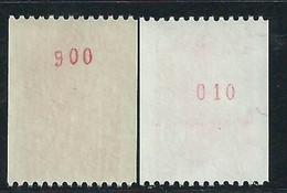 [43] Variété : N° 2319 Type Liberté De Roulette Avec Numéro Rouge Gomme Brillante + Normal ** - Varieties: 1980-89 Mint/hinged