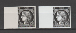 """FRANCE / 2019 / Y&T N° 5305 & 5305A ** : """"Cérès 1849-2019"""" Les 2 TP (du Coffret Prestige & Du Bloc) X 1 Tous BdF G - Unused Stamps"""