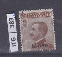 ITALIA    1912 ITALIA LIPSO 40 C Nuovo Senza Linguella - Zonder Classificatie