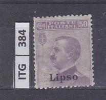 ITALIA      1912 ITALIA LIPSO 50 C Nuovo Senza Linguella - Zonder Classificatie