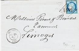 France, De Gironde  Type 17 En 1873 , GC 4556 Ind 9  Sur N°60 - 1849-1876: Periodo Classico
