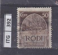 ITALIA     1929 ITALIA RODI 50 C Usato - Zonder Classificatie