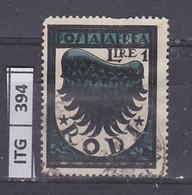 ITALIA      1933 ITALIA RODI Posta Aerea 1 L Usato - Zonder Classificatie