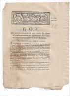 LOI   1792  Peine De Mort Contre Les Agens ..qui Refuseront D'exécuter.....  2 Pages - Gesetze & Erlasse
