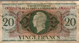 BILLET CAISSE CENTRALE D OUTRE MER 20 FRANCS - Aruba (1986-...)