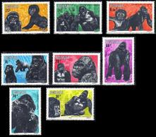 1177/1184** - Gorilles Des Montagnes II / Berggorilla's II / Berg Gorillas II / Mountain Gorillas II - RWANDA - 1980-89: Neufs