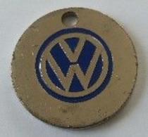 Jeton De Caddie - Automobiles - VW - Volkswagen - En Métal - - Moneda Carro