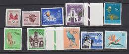 South Africa 1963 Set RSA Watermark(127) SG227-236 MNH Unmounted     / Cor - Neufs