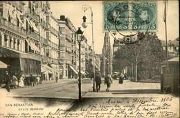 ESPAGNE - Affranchissement De Madrid Sur Carte Postale De San Sébastian En 1906 Pour La France  - L 89243 - Cartas