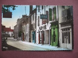 CPA PHOTO 25 QUINGEY La Grande Rue GARAGE Enseignes SIMCA MOBIL OIL & POMPES ESSENCE 1950 Canton SAINT VIT - Sonstige Gemeinden
