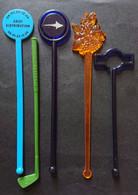 5 Agitateurs - Touilleurs De Boisson Martini - Teisseire - Corse - Swizzle Sticks