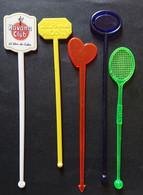 5 Agitateurs - Touilleurs De Boisson Sirop De Monin - Havana Club - Swizzle Sticks