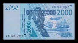 West African St. Togo 2000 Francs CFA 2020 Pick 816t New SC UNC - Togo