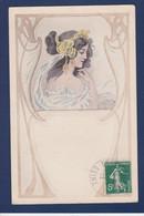CPA Vienne Type Art Nouveau Femme Women Circulé ELD - Mujeres
