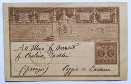 Cartolina Postale Commemorativa XXV Anniversario Liberazione Di Roma 1895 - Marcophilia