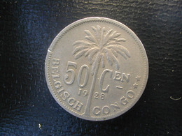 Begian Congo Kongo 50 Ct 1928 Vl - 1910-1934: Albert I
