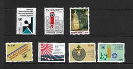 ONU Geneve 1981 ANNEE COMPLETE YVERT N°96/102  NEUF MNH** - Nuevos