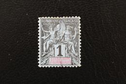1892,Guadeloupe Type Groupe Y&T NO 27 1C Noir Sur Azuré (papier Teinté) Oblitéré Tb... - Used Stamps