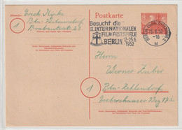 N 697) Berlin 1952 GS Mi# P12: MWSt B-Charlottenburg 2, Filmfestspiele, Glocke - Postales - Usados