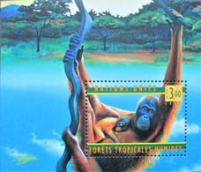 UN 1999  Geneva  Monkeys  S/S MNH - Unused Stamps