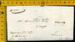 Piego Con Testo Introbio Per Lecco - 1. ...-1850 Prephilately