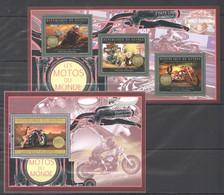 BC022 2012 GUINEE GUINEA TRANSPORTATION MOTORCYCLES USA 1KB+1BL MNH - Moto