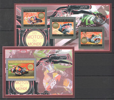 BC023 2012 GUINEE GUINEA TRANSPORTATION MOTORCYCLES JAPAN 1KB+1BL MNH - Moto