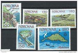 Féroé 1978 N°25/29 Neufs MNH Ile De Mykines - Isole Faroer