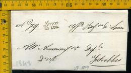 Piego Con Testo Lecco Per Introbio - 1. ...-1850 Prephilately