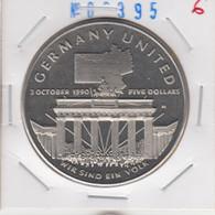 Marshall Islands 5 Dollars 1990 German Unification Km#33 - Marshall Islands