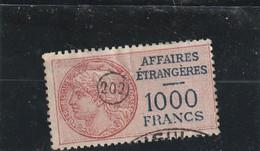 T.F.Affaires Etrangères N°16 - Steuermarken