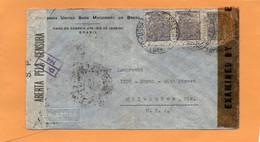 Brazil Old Censored Cover Mailed To USA - Briefe U. Dokumente