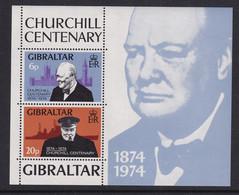 Gibraltar: 1974   Churchill Birth Centenary  M/S MNH - Gibraltar