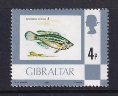 Gibraltar: 1977/82   Flowers / Fish / Birds / Butterflies     SG379a    4p  [Imprint Date '1981']     MNH - Gibraltar