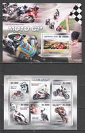 BC836 2010 S.TOME E PRINCIPE TRANSPORT MOTORCYCLES MOTO GP 1KB+1BL MNH - Moto