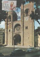 CARTE MAXIMUM - MAXICARD - MAXIMUM KARTE - MAXIMUM CARD - PORTUGAL - FAÇADE DE LA CATHÉDRALE DE LISBONNE - Kirchen U. Kathedralen