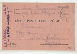WWI Feldpost, K.u.k. Infanterieregiment Nr. 79 Posted 1915 FP111 To Zagreb B210220 - Croatia