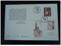 Encart Folder Gravure Engraving Art Medieval Cathédrale De Strasbourg 1971 - Churches & Cathedrals