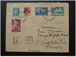 Lettre Recommandée Registered Letter Plovdiv Bulgarie Bulgaria 1947 - Briefe U. Dokumente