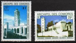 Comores N° 87 / 88 XX  Mosquées, Les 2 Valeurs Sans Charnière TB - Unused Stamps