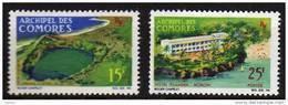 Comores N° 39 / 40  XX   Vues, La Paire Sans Charnière TB - Unused Stamps