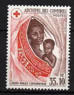 Comores N° 95 XX  Surtaxe Au Profit De La Croix-Rouge Comorienne Sans Charnière TB - Unused Stamps