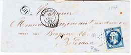 France,  De Margaux En 1861 Type 15 Et Pc 1877 Ind 6) Sur N°14 TB - 1849-1876: Periodo Classico