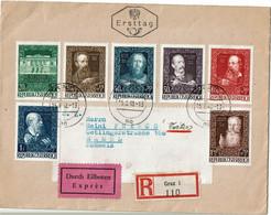 CTDN67- AUTRICHE LETTRE RECOMMANDEE EXPRES GRAZ / BASEL 15/6/1948 - 1945-60 Storia Postale