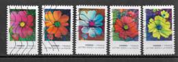 France 2020  Oblitéré Autoadhésif  N° 1851 - 1853 - 1854 - 1859 - 1862  - Fleurs - Les Couleurs Du Cosmos - Adhesive Stamps