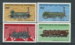Dahomey  N° 343 / 46  XX  Locomotives: La Série Des 4 Valeurs Sans Charnière,  TB - Benin – Dahomey (1960-...)