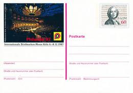 99175) BRD - PSo 15 ✶ - 60Pf - Gluck, PHILATELIA'87 Köln - Postcards - Mint